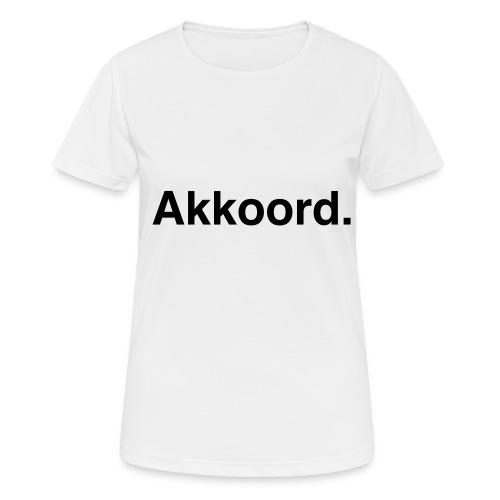 Akkoord - Vrouwen T-shirt ademend actief