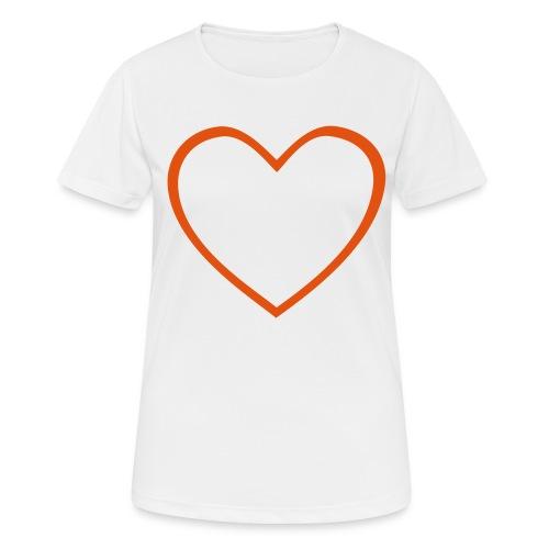 Hjärta 4 - Andningsaktiv T-shirt dam