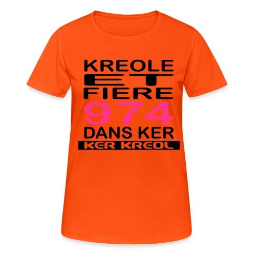 Kreole et Fiere - 974 ker kreol - T-shirt respirant Femme