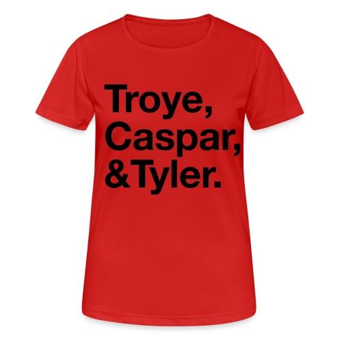 TROYE CASPAR AND TYLER - YOUTUBERS - Maglietta da donna traspirante