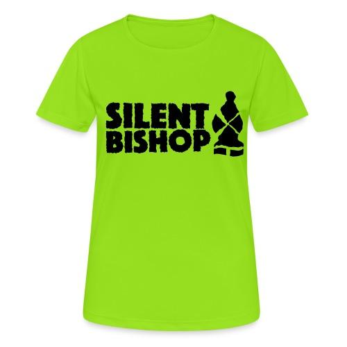 Silent Bishop Logo Groot - Vrouwen T-shirt ademend actief