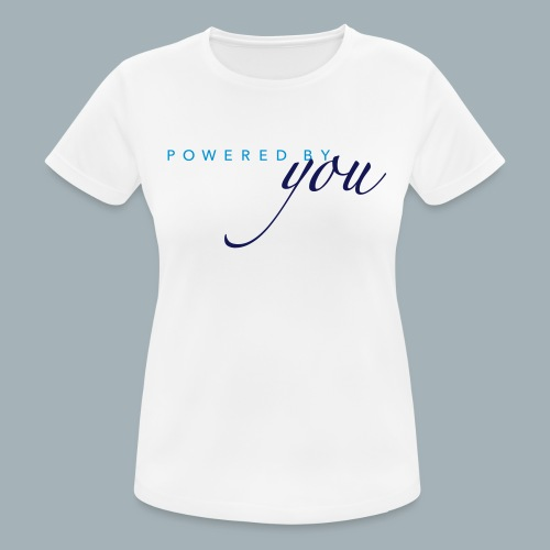 Powered By You Basketbal Shirt - Vrouwen T-shirt ademend actief