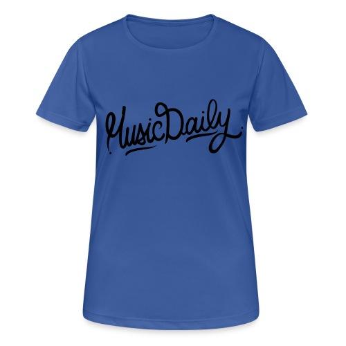 MusicDaily Logo - Vrouwen T-shirt ademend actief