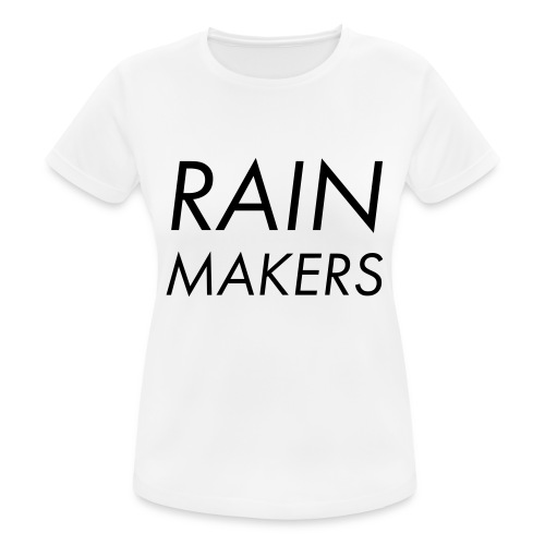 rainmakertext - naisten tekninen t-paita