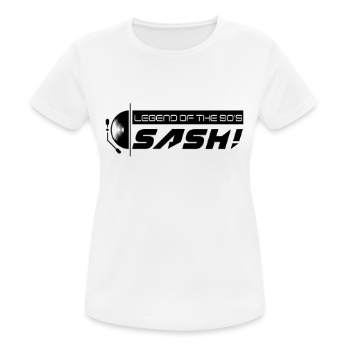 DJ SASH! Turntable 2020 Logo - Women's Breathable T-Shirt
