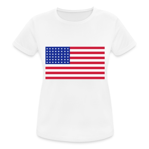 AVM 48 star flag in 3 color RGB VECTOR - Vrouwen T-shirt ademend actief