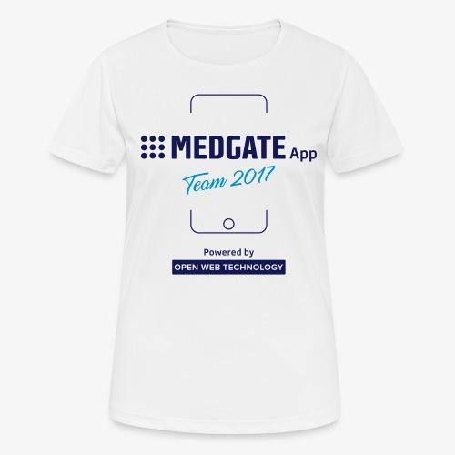 Medgate App Team 2017 White - Frauen T-Shirt atmungsaktiv