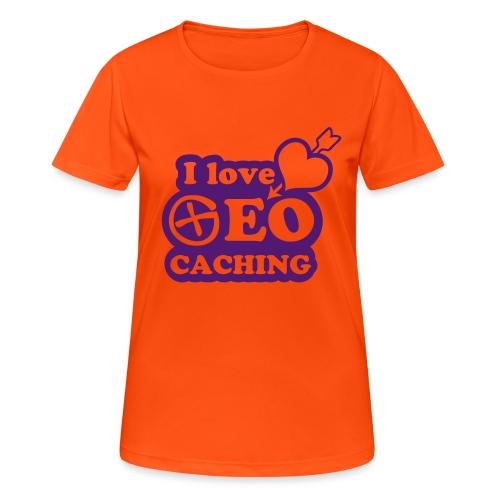 I love Geocaching - 1color - 2011 - Frauen T-Shirt atmungsaktiv