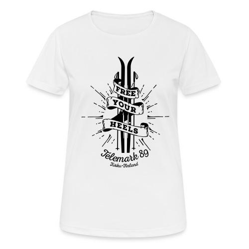 FreeYourHeels_merge - naisten tekninen t-paita
