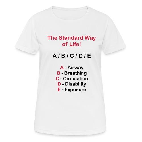 Rettungsdienst ABC Schema - Frauen T-Shirt atmungsaktiv