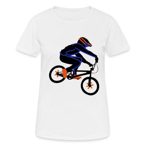 BMX Rider Dark - Vrouwen T-shirt ademend actief