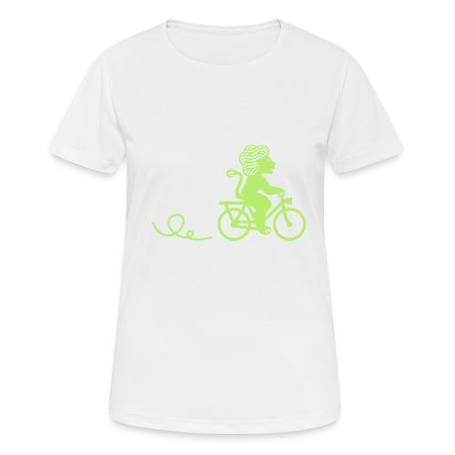 Züri-Leu beim Velofahren ohne Text - Frauen T-Shirt atmungsaktiv