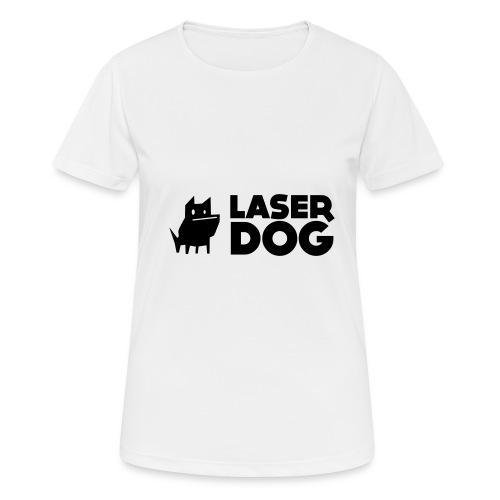 Laser Dog Logo - Women's Breathable T-Shirt