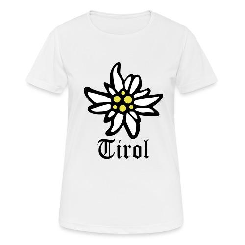 Tirol Edelweiss - Frauen T-Shirt atmungsaktiv