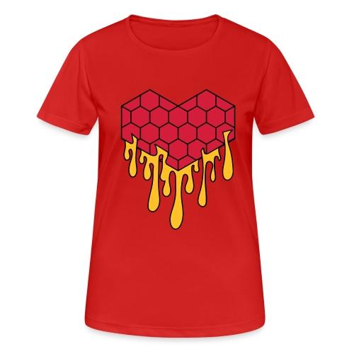 Honey heart cuore miele radeo - Maglietta da donna traspirante