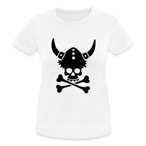 Totenkopf mit Wikingerhelm - Frauen T-Shirt atmungsaktiv