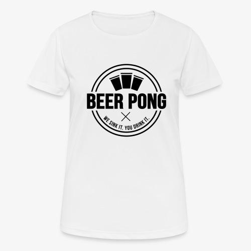 Beer Pong Logo V - Frauen T-Shirt atmungsaktiv