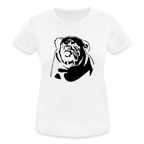 English Bulldog - negative - naisten tekninen t-paita