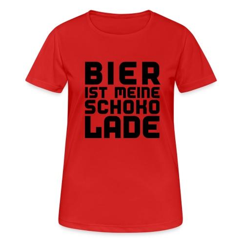Bier ist meine Schokolade - Frauen T-Shirt atmungsaktiv