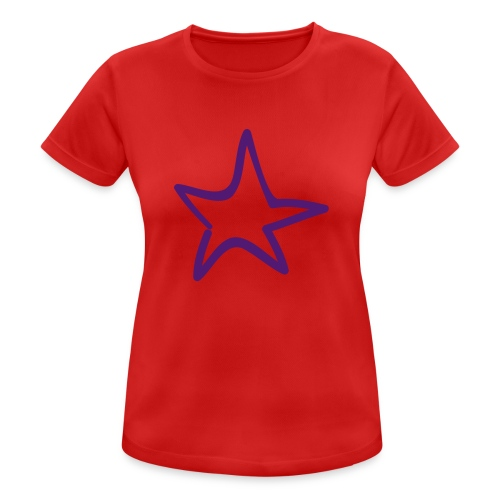 Star Outline Pixellamb - Frauen T-Shirt atmungsaktiv