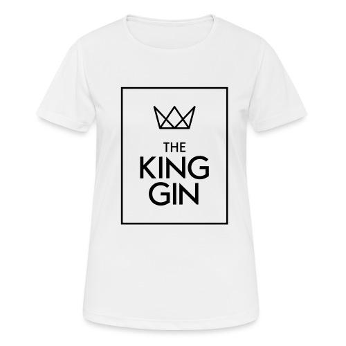 The King Gin Logo schwarz RGB Rahmen - Frauen T-Shirt atmungsaktiv