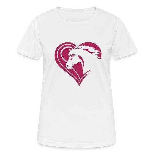 Iheart horses - Frauen T-Shirt atmungsaktiv