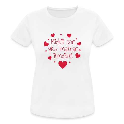 Miekii oon yks Imatran Ihmeist vauvan lh body - naisten tekninen t-paita