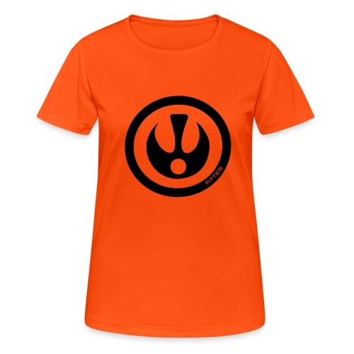 FITTICS DARK BLUE SHIELD - Women's Breathable T-Shirt