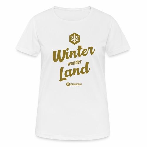 Winter Wonder Land - naisten tekninen t-paita