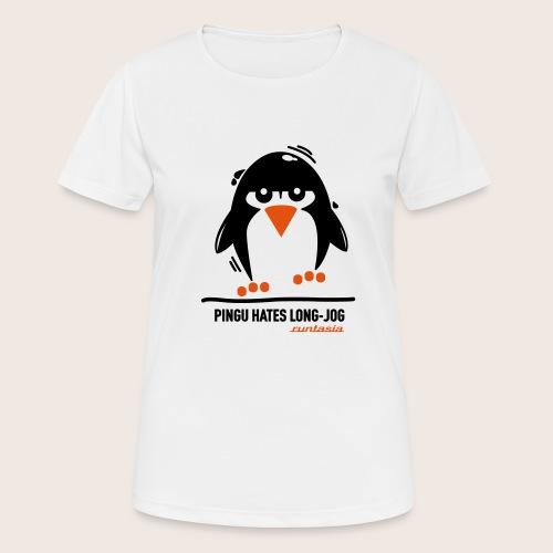Pingu hates long jog 1 - Frauen T-Shirt atmungsaktiv