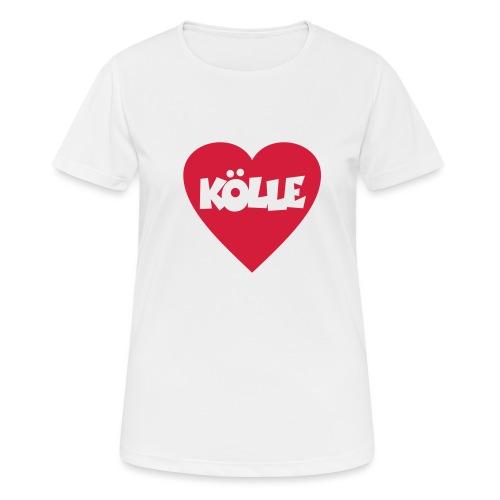 I Love Kölle - Ein Herz für Köln - Frauen T-Shirt atmungsaktiv