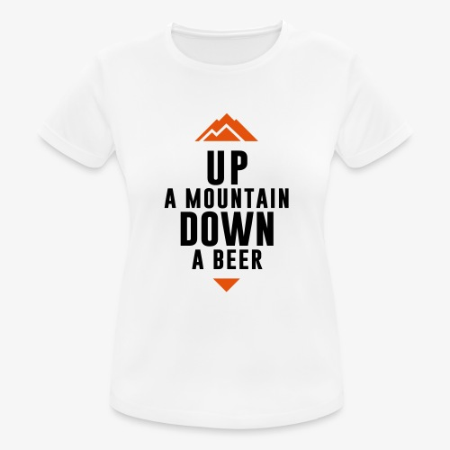 UP Mountain Down Beer - T-shirt respirant Femme