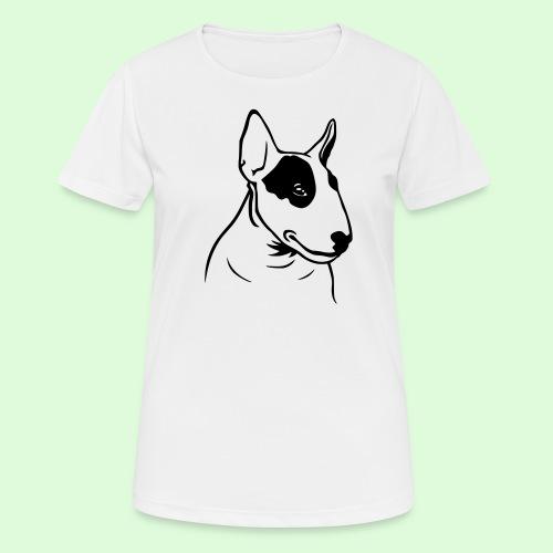Tête de Bull Terrier - T-shirt respirant Femme