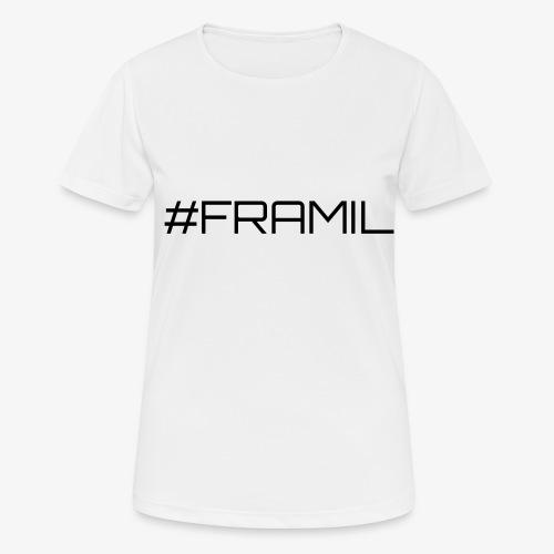 Musta framil - naisten tekninen t-paita