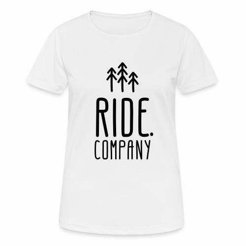 RIDE.company Logo - Frauen T-Shirt atmungsaktiv