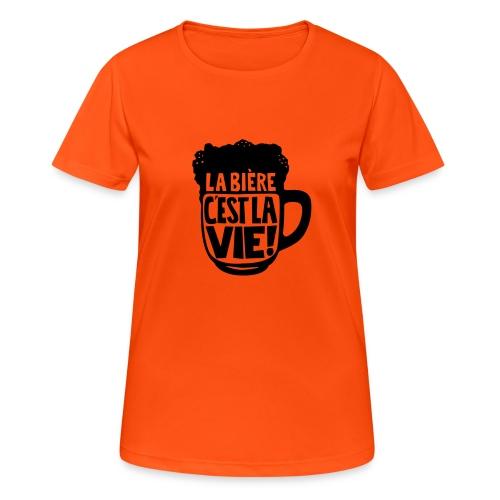 bière, la bière c'est la vie - T-shirt respirant Femme