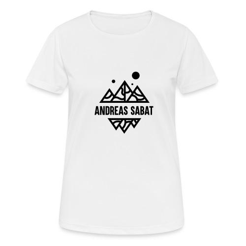 sabat logo black - Dame T-shirt svedtransporterende