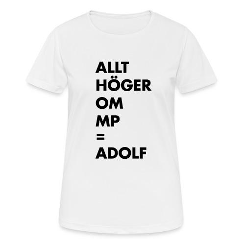 Allt höger om MP = Adolf - Andningsaktiv T-shirt dam