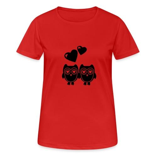 verliebte Eulen - Frauen T-Shirt atmungsaktiv