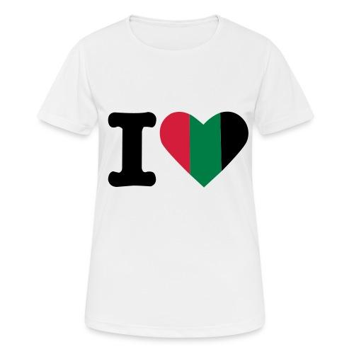 hartjeroodzwartgroen - Vrouwen T-shirt ademend actief