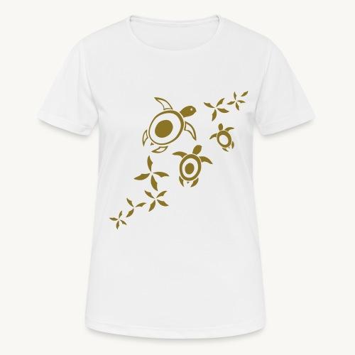 blumige Wasserschildis - Frauen T-Shirt atmungsaktiv