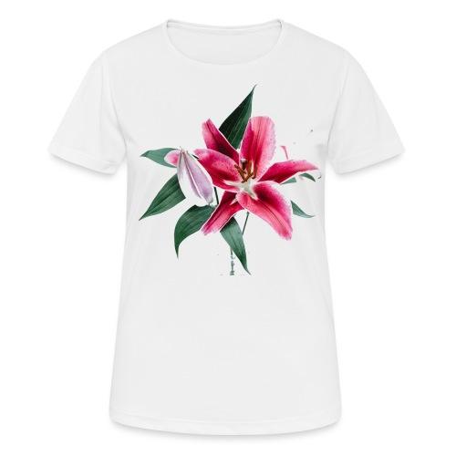 roze lelie - Vrouwen T-shirt ademend actief