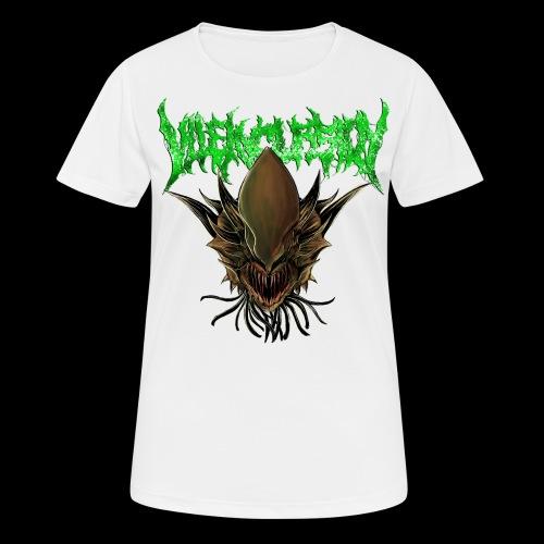 Alien head logo - Andningsaktiv T-shirt dam