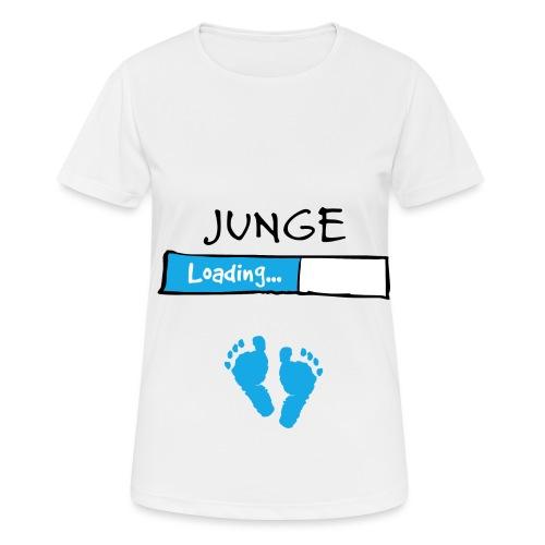 Junge loading // Schwangerschaft T-Shirt - Frauen T-Shirt atmungsaktiv