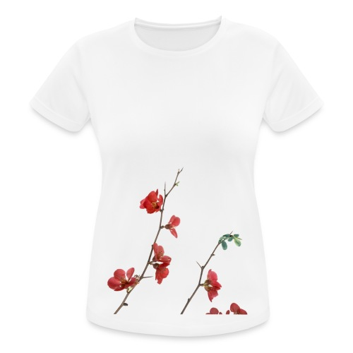 red flowers - vrouwen T-shirt ademend