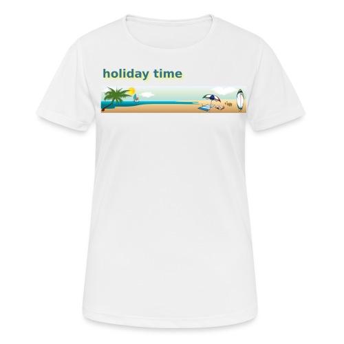 holiday time - Maglietta da donna traspirante