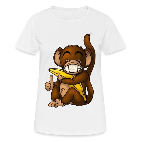 Super Fröhlicher Affe - Frauen T-Shirt atmungsaktiv