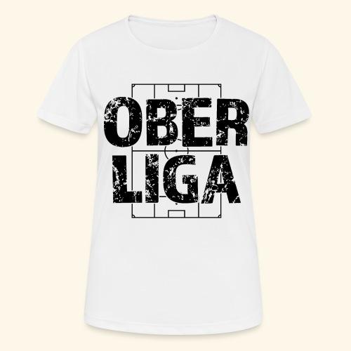 OBERLIGA im Fußballfeld - Frauen T-Shirt atmungsaktiv