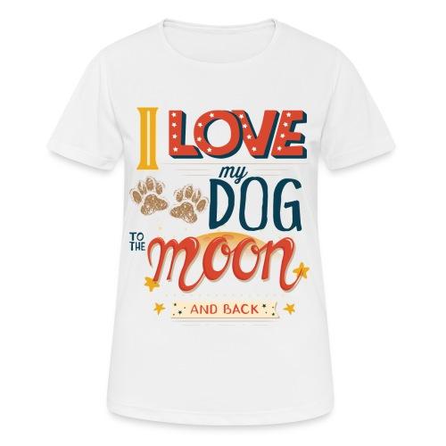 Moon Dog Light - Andningsaktiv T-shirt dam