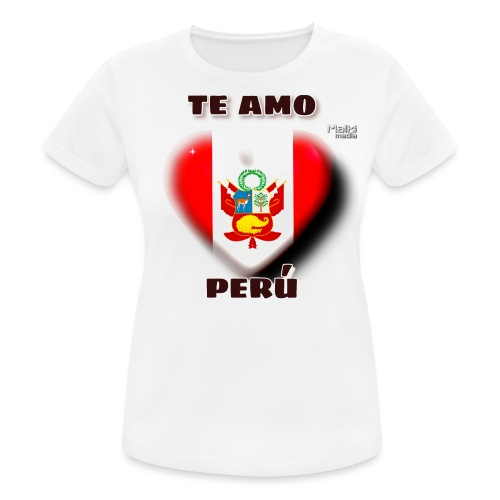 Te Amo Peru Corazon - Women's Breathable T-Shirt